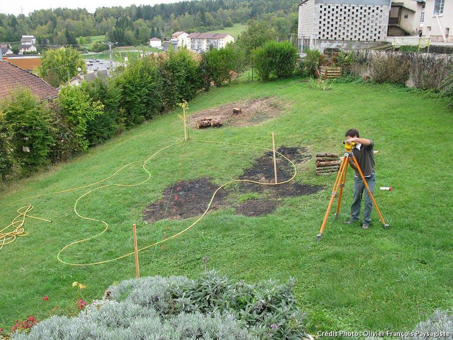 Pas-à-pas: créer un bassin sur un terrain en pente - Détente Jardin