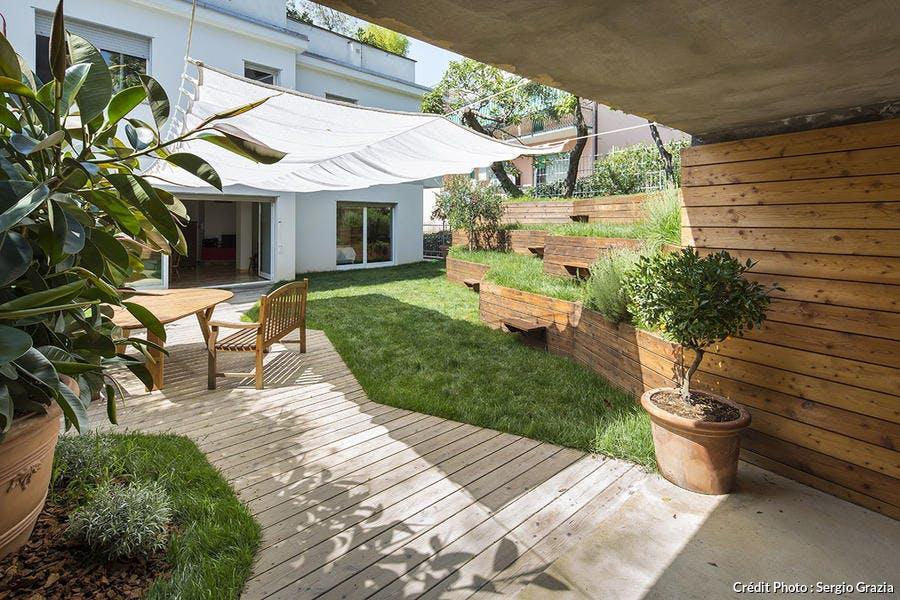 Un jardin en pente