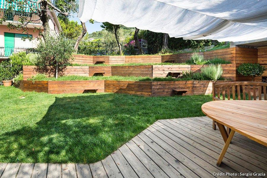 Aménagement d'un jardin en pente