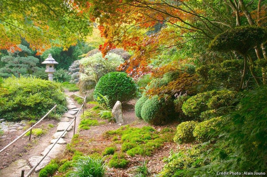 Jardin japonais du parc botanique de Haute-Bretagne