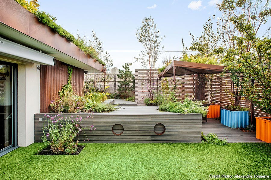 Jardin terrasse style maritime : idée aménagement | Détente Jardin