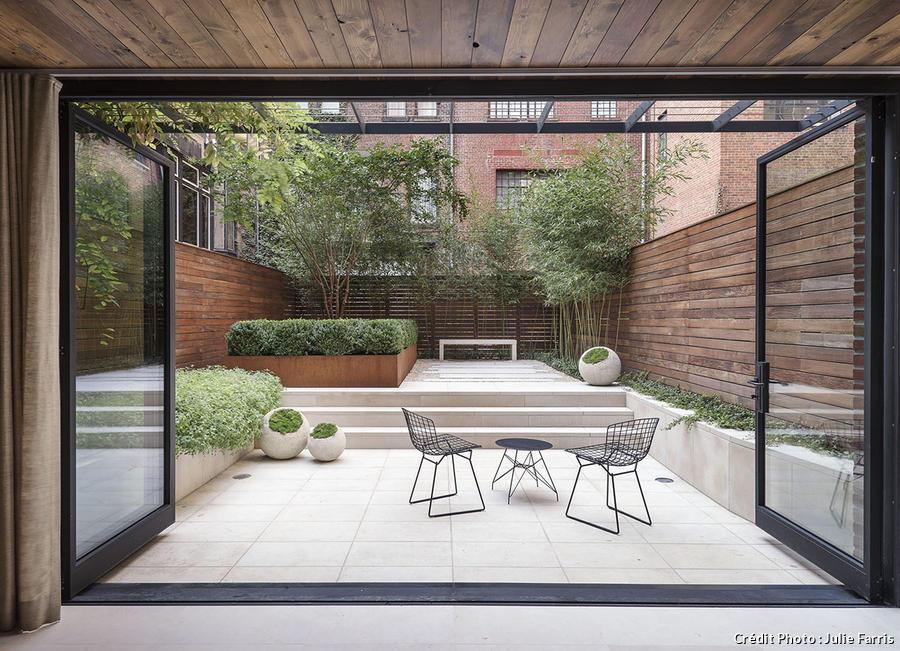 Jardin design, le calme d\'un jardin à New-York I Détente Jardin