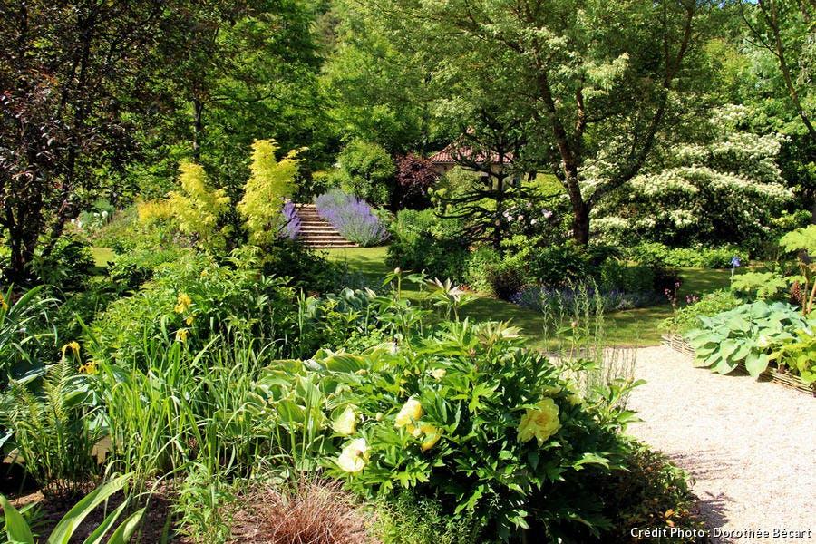 Vue générale jardin de mon moulin
