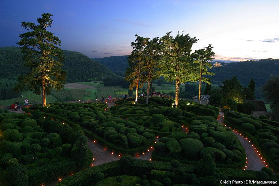 Nocturne aux jardins suspendus de Marqueyssac