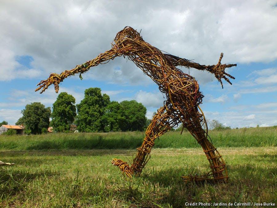 Sculpture en osier de Pamina Stewart