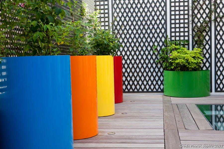 Jardinières colorées