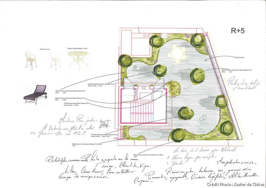 Plan terrasse Xavier de Chirac