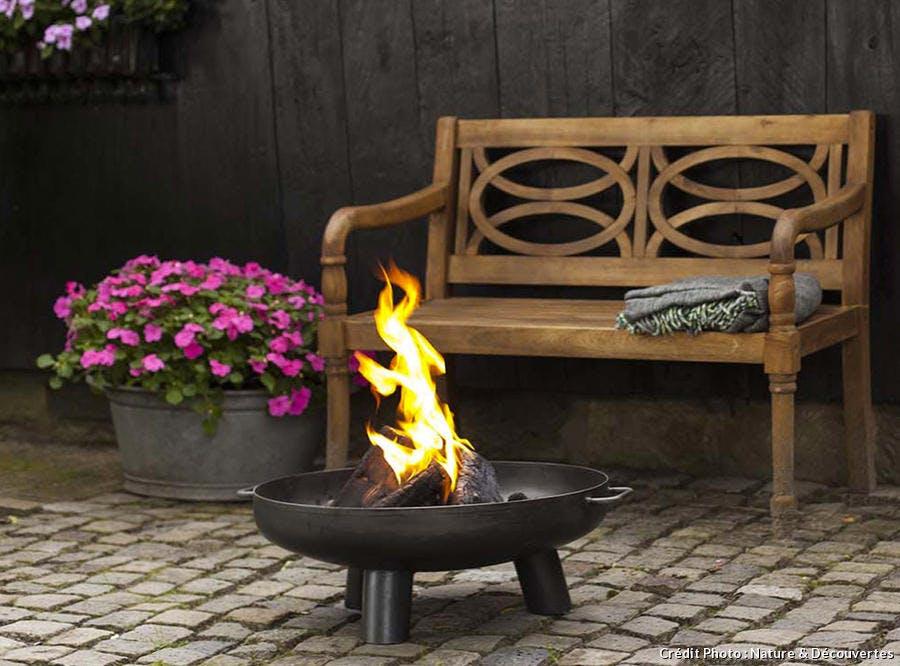 Braséro en fonte ou en acier pour le jardin et la terrasse