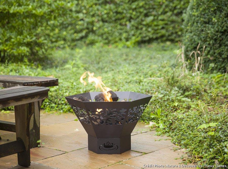 braséro en fonte et en acier pour le jardin et la terrasse