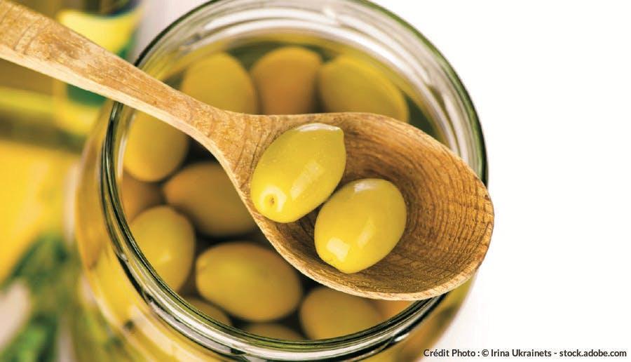 Conservation saumure olive