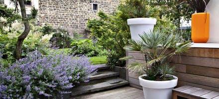 La terrasse et les escaliers
