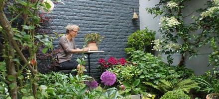 cour jardin romantique