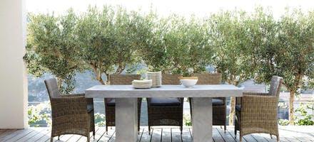 Table imitation béton