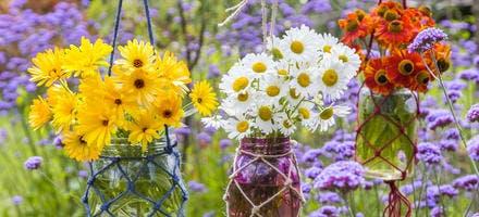 Créer des bouquets suspendus