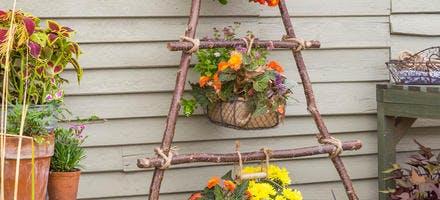 Panier suspendu pour vos fleurs